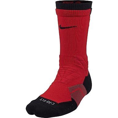 Nike Elite Vapor - Calcetines acolchados de fútbol para hombre camiseta de fútbol, Negro/Rojo: Amazon.es: Deportes y aire libre