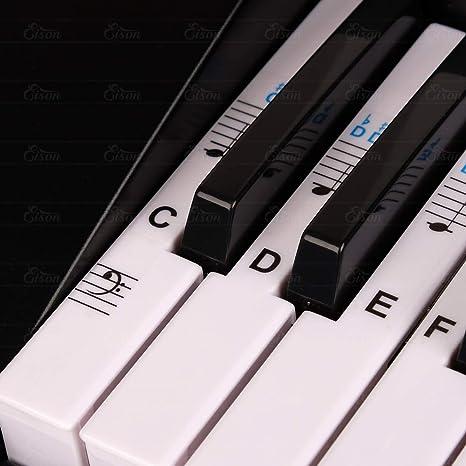 Juego Completo De Calcomanías De Teclado Para Piano ...