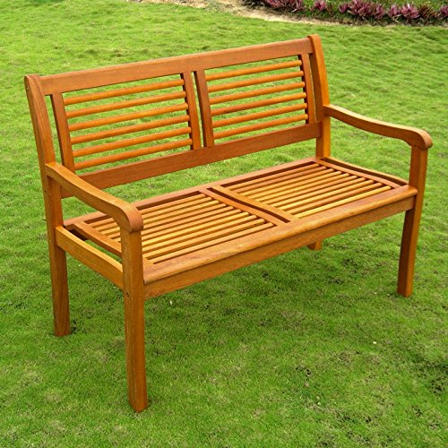 International Caravan TT-2B-052-IC Furniture Piece Royal Tahiti Bar Harbor Two Seat Bench - Bar Harbor Rattan