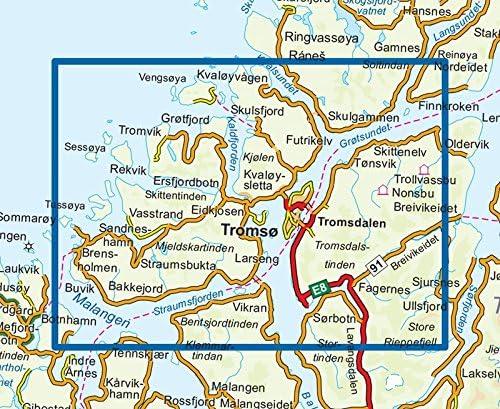 Senderismo Mapa Noruega | tromsø-kvaløya Topo 3000 1: 50 000 ...