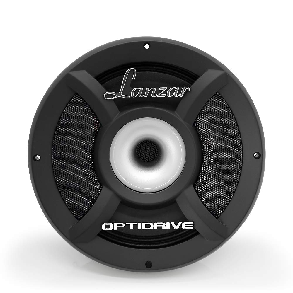 """Lanzar Upgraded Opti-Drive Pro 8"""" High Power - 1600 Watt Peak 100Hz – 22 kHz Frequency Response 90 Oz Magnet Structure and 8 Ohm Mid-Bass w/Compression Horn Tweeter Full Range Speaker - OPTI8HPRO8"""