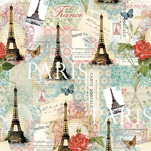Springtime in Paris Cotton Fabric by The ()