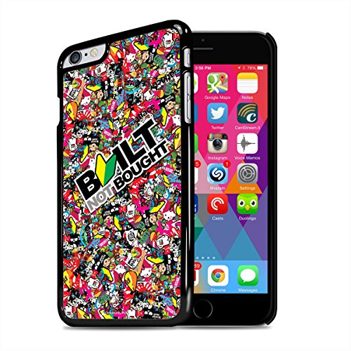 Apple iPhone 6 Plus JDM Built Not Bought Sticker Bomb Black Cell Phone Case