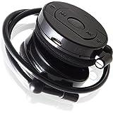 Bluetoothヘッドホン Ver.4.0 省電力 高音質 高性能マイク ワンセグ ハンズフリー 両耳 耳フック スマホ iPhone (ブラック)