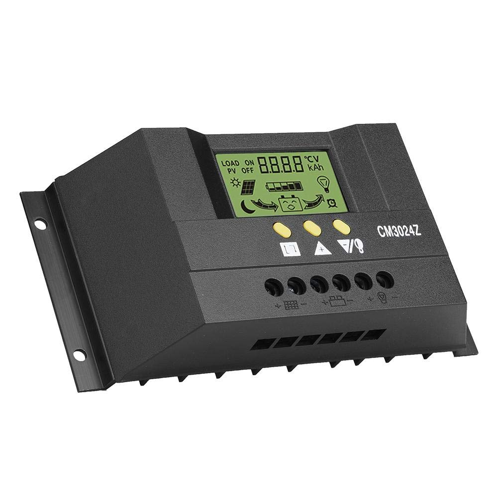 Pantalla LCD 12V 24V 30A inteligente del regulador del regulador de la carga del panel solar de PWM