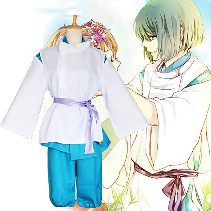 Amazon Com Spirited Away Haku Dragon Kohaku Chihiro Cosplay Costume Kimono Suit Full Set Adults Halloween Carnival Anime Cosplay Costume Clothing
