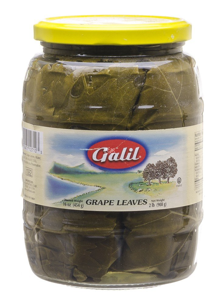 Galil Grape Leaves No Artificial Flavors Non GMO 16 Oz. Pack Of 6. by Galil