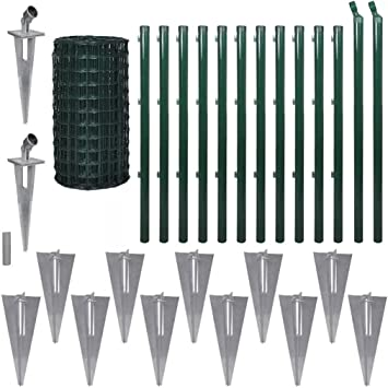 Zora Walter Valla Euro con piquetas 25 x 1,7 m acero verde Valla Jardín Barriere exterior Valla metálica staccionate acero kit Valla exterior: Amazon.es: Bricolaje y herramientas