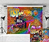 Kate 10x6.5ft Hip Hop Graffiti Photography Backdrop 90th Brick Wall Customized Background for Part Photo Studio Backdrops Prop