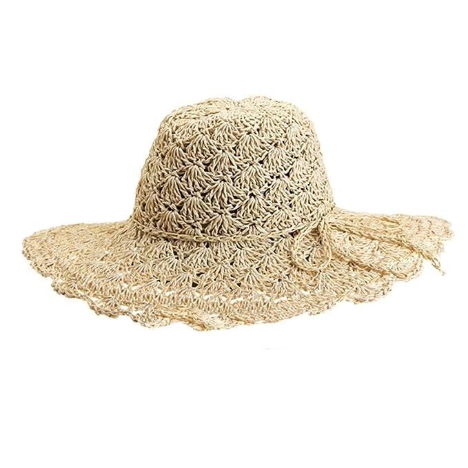 YOUJIA Sombreros de Paja de Sol a2972d75bff