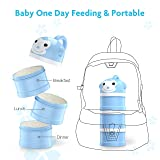 BabyKing Baby Feeding Set, Harmless & Cartoon, Baby Suction Bowl Set, Children Tableware Set, Suction Bowl, Spoons Forks Set, Milk Powder Dispensers for Baby's 3 Meals