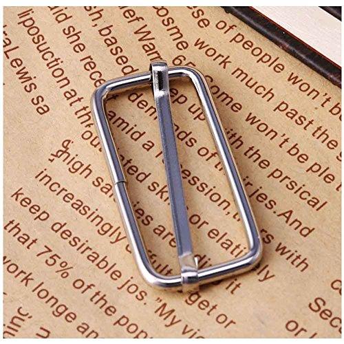 LAYs 20pcs 1 Inch Metal Triglides Slide Belt Buckles Slider Adjuster for Bag Strap Leathercrafting (38mm, Silver) (Belt Slide Adjuster compare prices)