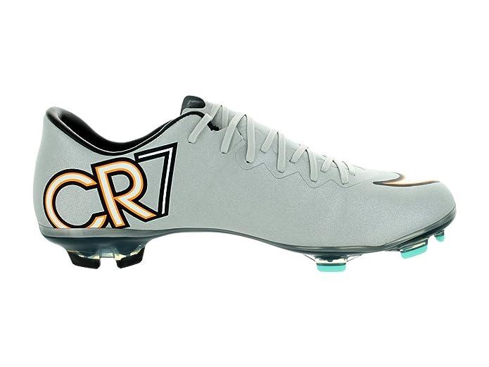 Amazon | Nike Kids Jr Mercurial Vapor X Cr Fg Mtllc Silver/Blk/Hyper Trq /Blk Soccer Cleat 5 5 Kids US | Soccer