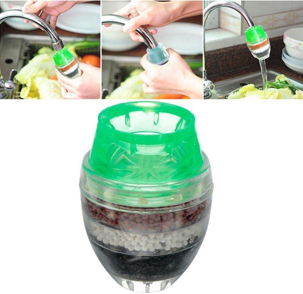 gr/ün 23 mm XelparucTS Haushalt Aktivkohle Wasserfilter Mini K/üche Wasserhahn Luftreiniger Pflanze Filtration Kartusche 21