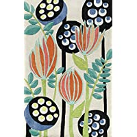Momeni Rugs BLISSBS-18IVY2380 Bliss Collection, Hand Carved & Tufted Contemporary Area Rug, 23 x 83 Runner, Ivory