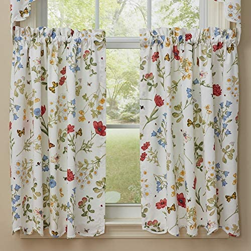 Park Designs Wildflower Window Treatment Tier, 72 x 36