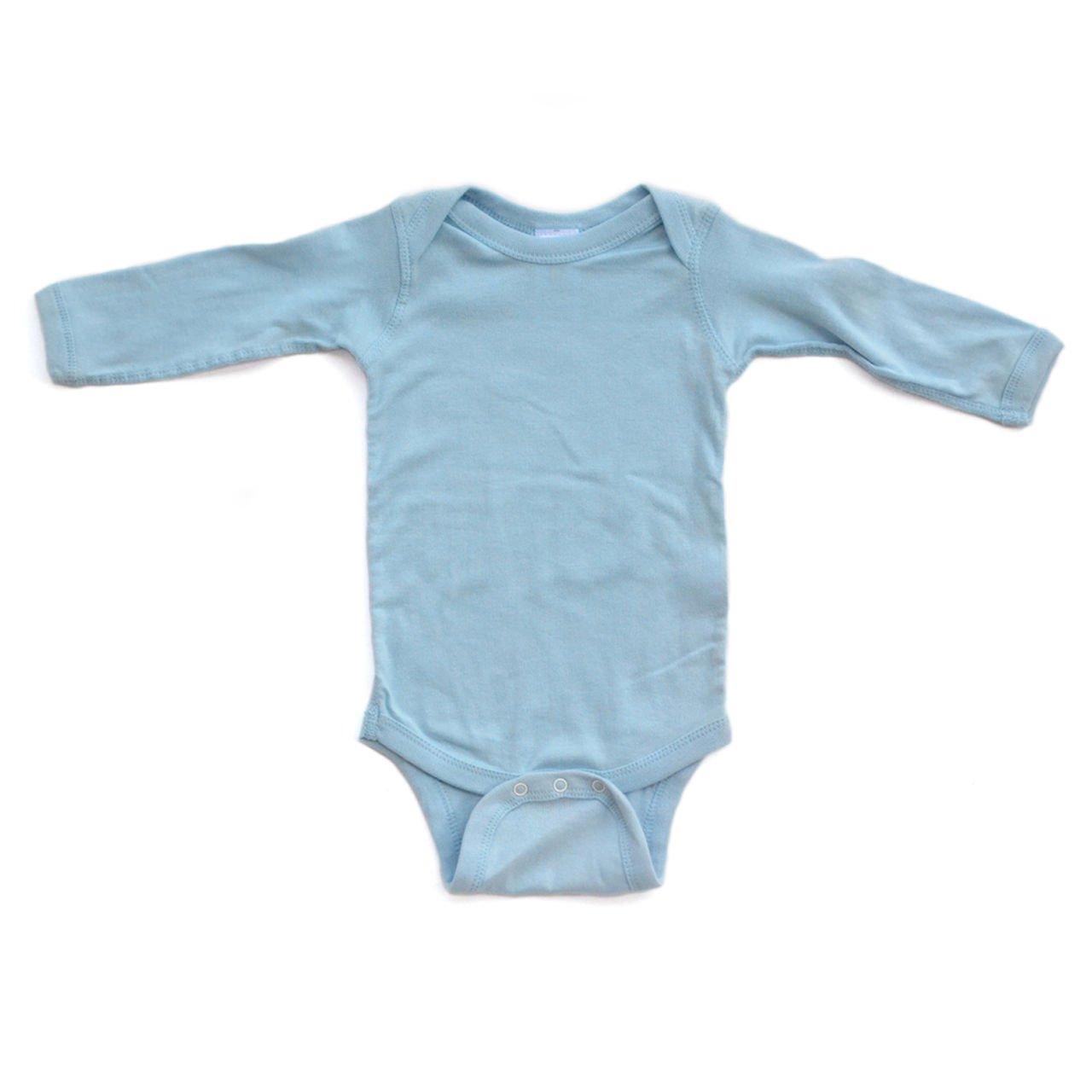 Apericots Plain Blank Ultra Soft Cotton Long Sleeve Baby Infant Bodysuit