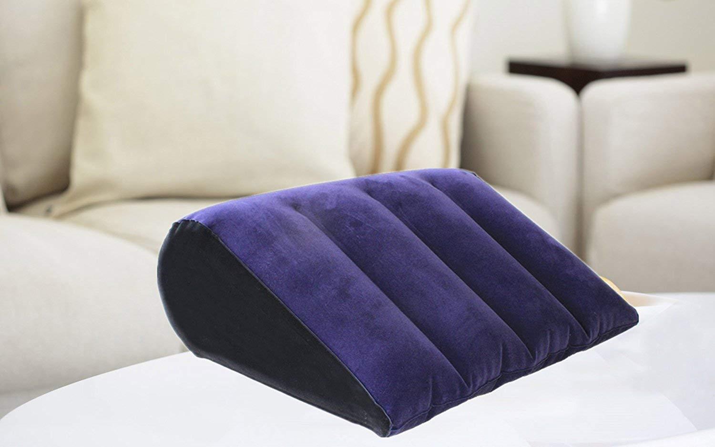 Almohada de posición inflable - Magic Triangle Cushion de Furniture for Couples Almohada de soporte de Cushion posición de 17.8