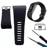 Geshiglobal morbido silicone sostituzione cinturino da polso con fibbia strumento per Fitbit Surge