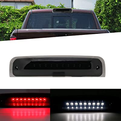 SOYAVISION LED 3rd Brake Light for 2009-2020 Dodge Ram 1500 2500 3500 Smoke Lens Third High Mount Trailer Cargo Lamp Reverse Tail Light: Automotive