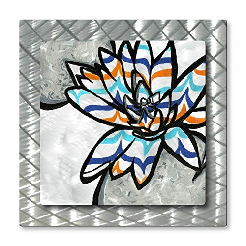 Metal Wall Art Decor Abstract Floral 'From the Gardens