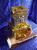 Gold Jewish Temple Jerusalem Replica on Copper Base includes Holy Place Artifacts