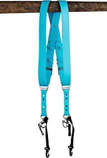 product image for HoldFast Gear Money Maker Vegan 2 Camera Harness (Light Blue, Small)