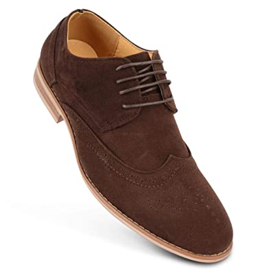 81bce7248b Classics Mens Faux Suede Smart Formal Casual Lace Up Brogues Shoes UK Sizes  (7 UK