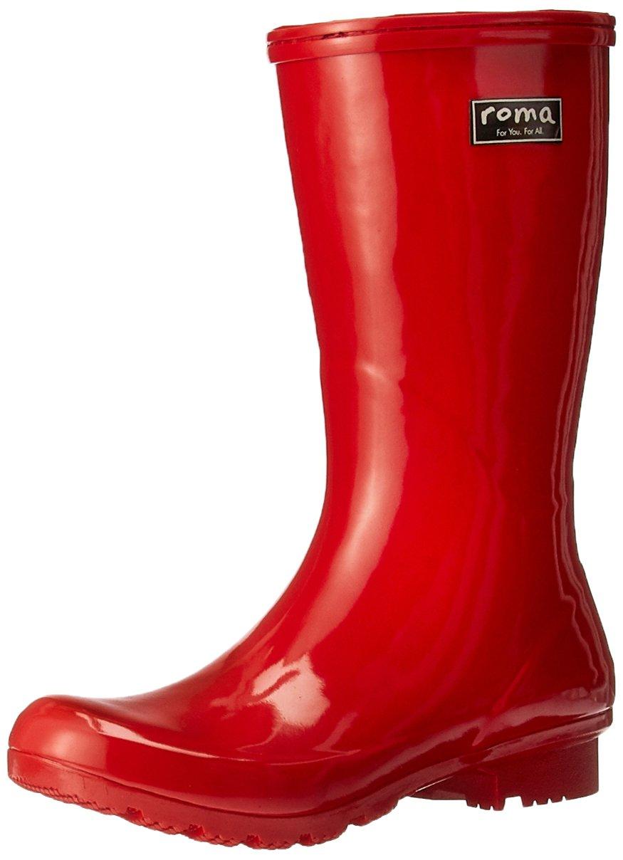 Roma Boots Women's Emma Short Rain Boot, Red, 8 M US