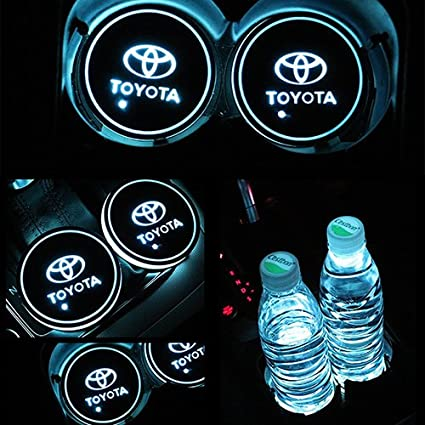 Jaguar Bearfire Car Logo LED Cup Pad cup holder light USB Charging Mat Luminescent Cup Pad LED Mat Interior Atmosphere Lamp Decoration Light