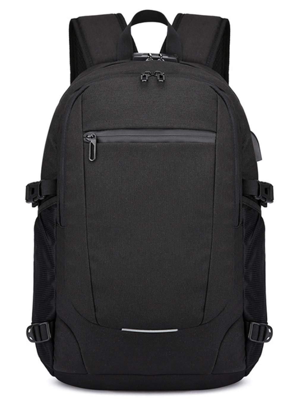 RSQJ Men's Backpack Student Bag USB Charging Bag (Color : A, Size : 321850cm)