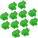 SPHTOEO 12pcs Frogs Baby Bath Tub Bathing Rubber Squeaky Toys