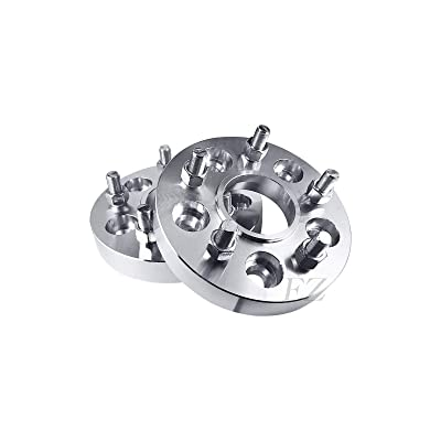 2 Hub Centric Wheel Adapters Spacers 5x130 to 5x130 Compatible with Porsche 14x1.5 Studs Thickness 2.5 Inch: Automotive