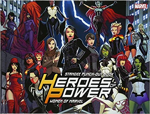 Amazon com: Heroes of Power: The Women of Marvel: Standee Punch-Out