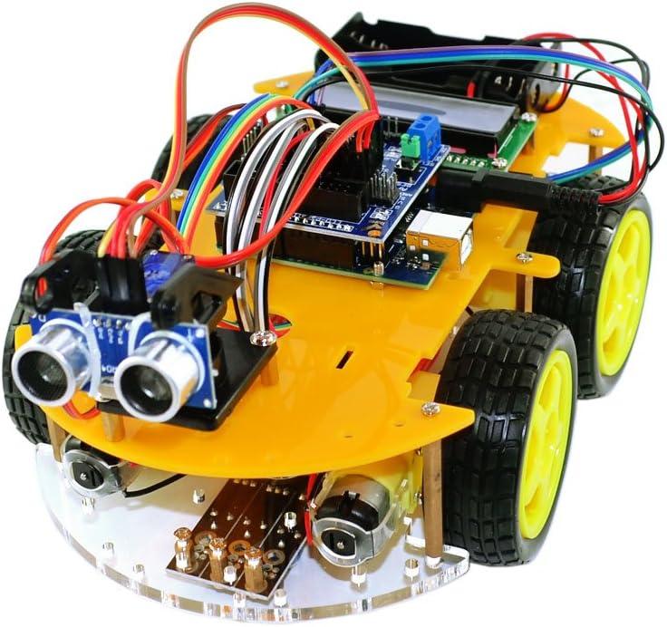 DYI Scheda UNO atmega-328 TBS2654 Kit completo Car Smart Robot Bluetooth Arduino con rilevatori di ostacoli Guida per lutente con progetti di costruzione e foto