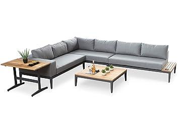 Alexander Francis Sunbrella- Sofá de Tela de Color Gris para Muebles de jardín de Estilo Industrial: Amazon.es: Jardín