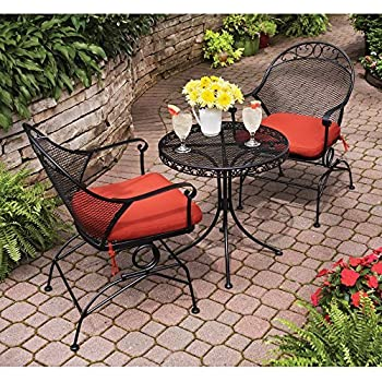 Clayton Court 3 Piece Motion Outdoor Bistro Set, Seats 2   Best Quality For