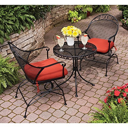 Clayton Court 3-Piece Motion Outdoor Bistro Set, Seats 2 - Best quality for a low price (Red)