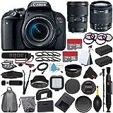 6Ave Canon EOS Rebel T7i DSLR Camera 18-55mm Lens (International Model) + Canon EF 16-35mm f/4L IS USM Lens (International Model) + Rode VideoMic GO + Deluxe Cleaning Kit Bundle