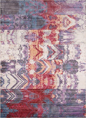 Cheap Momeni Rugs RUSTIRR-02PUR2380 Rustic Romance Collection Contemporary Area Rug, 2'3″ x 8'0″ Runner, Purple
