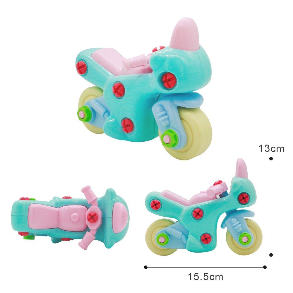 Nuheby Macchina Giocattolo Giochi da Assemblare Kit Costruzione Auto Moto Macchina da Corsa Macchina Bambini 3,4,5,6 Anni