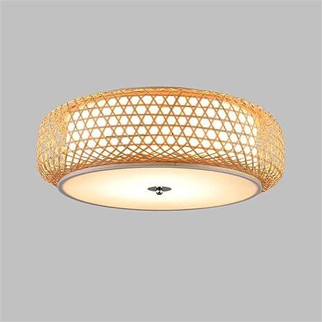 Araña Iluminación Colgante Luz Lámpara Bambú De Mimbre ...
