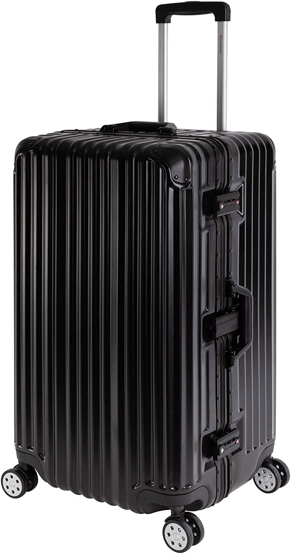 Sale% Travelhouse T1169 - Maleta rígida con Ruedas (Marco de Aluminio, Varios tamaños y Colores), Negro (Negro) - London T1169 Sport Trunk