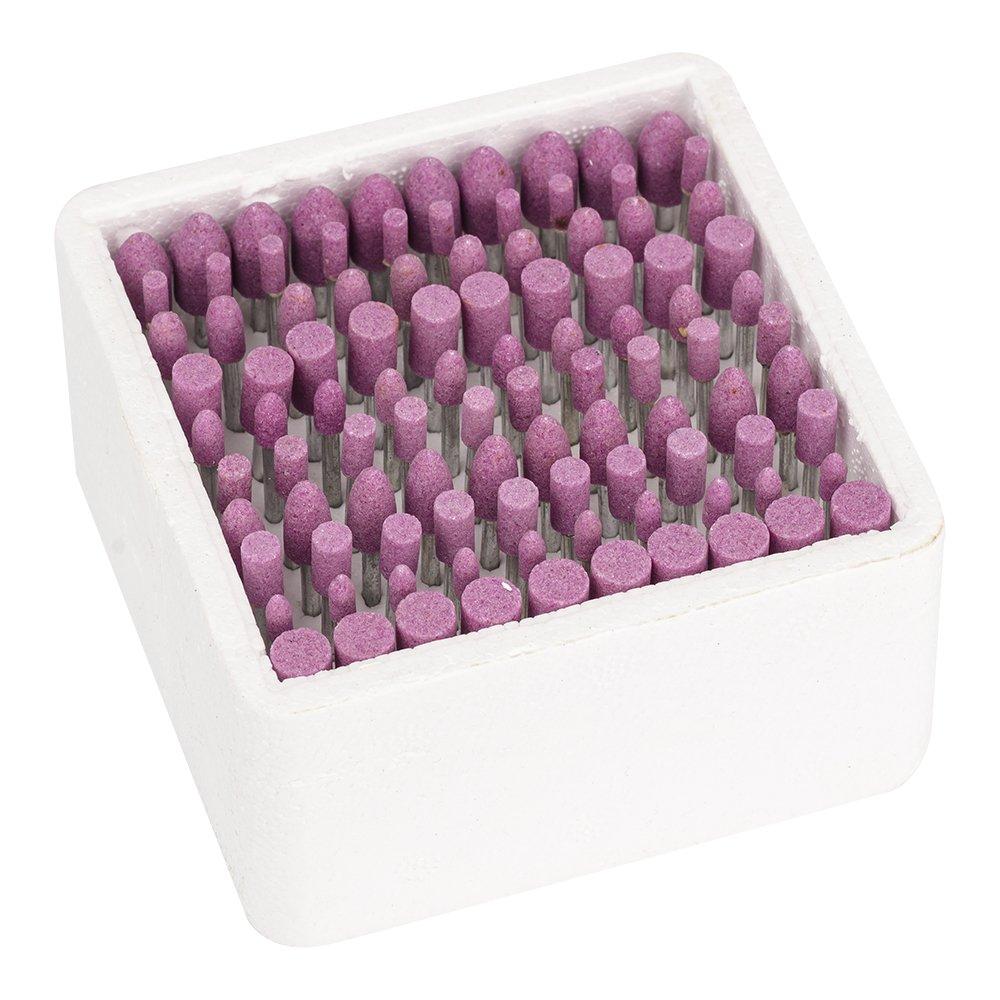 pierre abrasive points /électrique Accessoires de broyage kit doutil de roue pour Dremel Outil rotatif/ /gratuit doigt co/ût 100/pcs polissage T/ête de meulage 3/mm//0,3/cm Tige