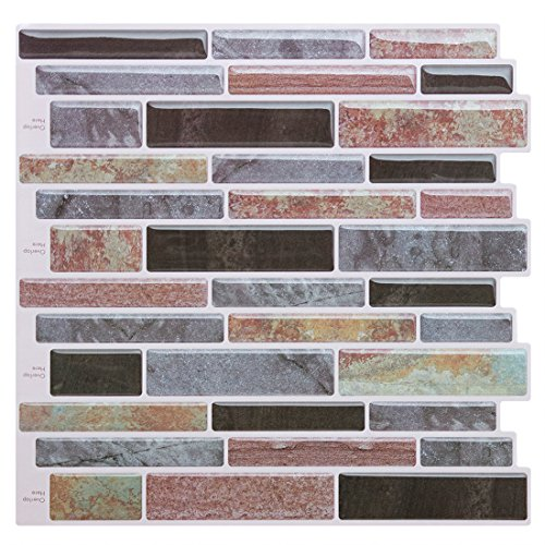 Peel and Stick Tile Backsplash-Mist Purple Backsplash Peel and Stick for Kitchen Bathroom,Stick on Tiles for Backsplash(4 Tiles) by FAM-StickTiles