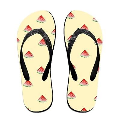 0a298d6ca QR FUNK Unisex Watermelon Summer Coat Sweet Summer Comfortable Flip Flops  Beach Slippers