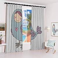 GUUVOR Kids Sunshade Sunscreen Curtain Russian Folklore and Mythology Childish Sirin...