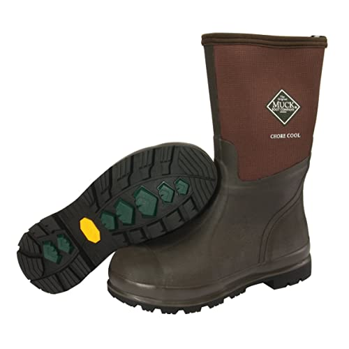 Unisex Adults Chore Cool Mid Work Wellingtons, Brown, 10 M US Men The Original Muck Boot Company