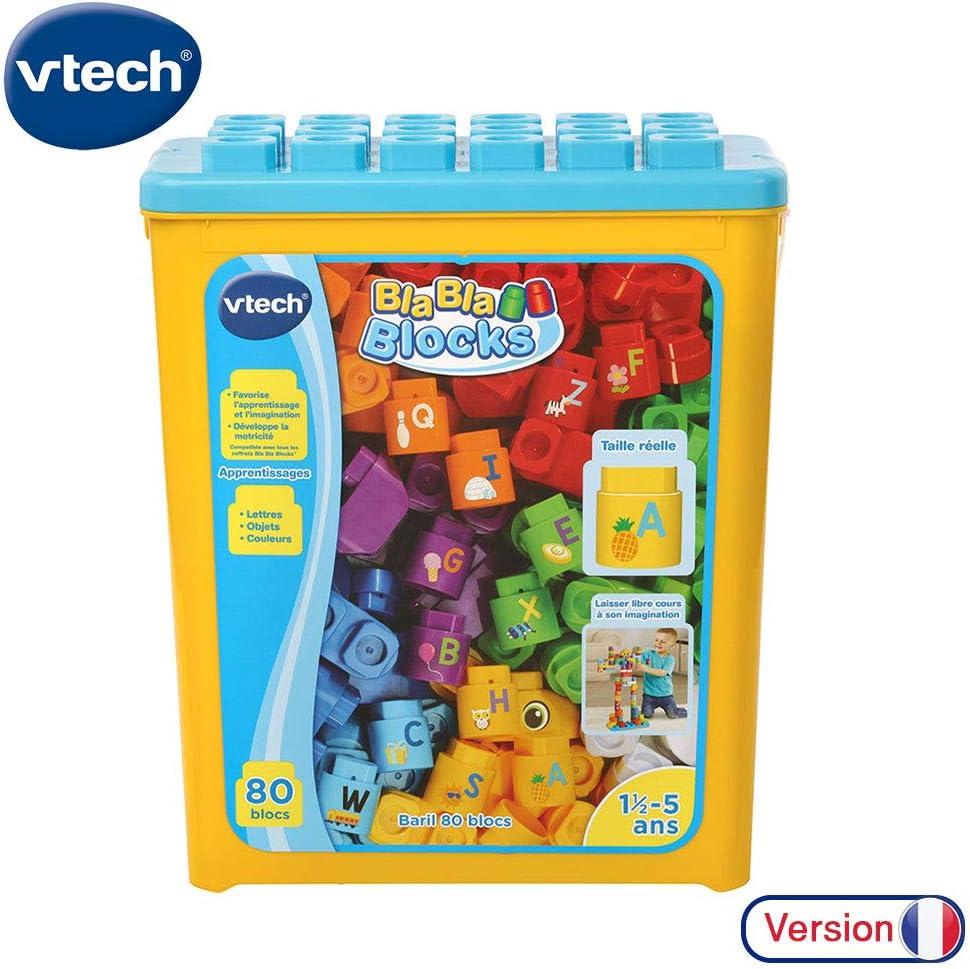 VTech - 80 Bloques Bla Blocks-Baril sin Base electrónica, 80-608905, Multicolor: Amazon.es: Juguetes y juegos