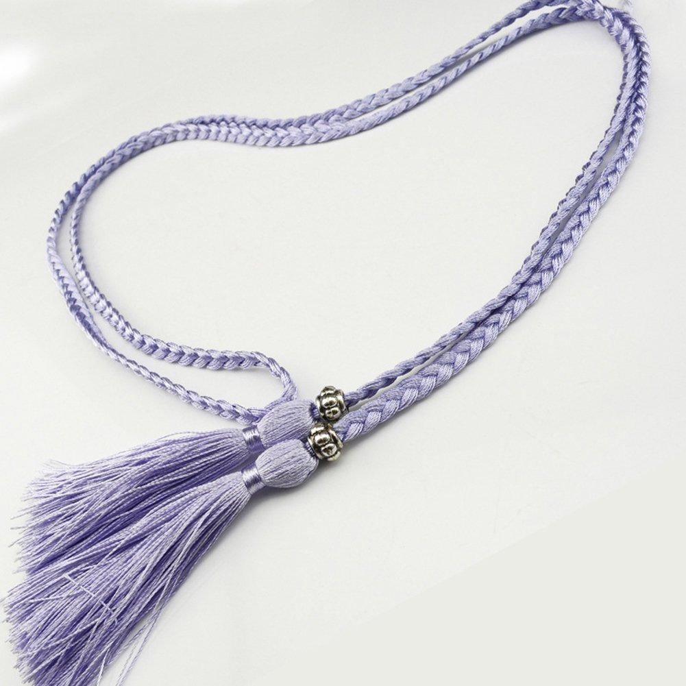 Snone Mesdames Weave Glands Ceinture Ventre Style Coréen de Bow Corde Jupe  Nouée Décorative Taille Chaîne Corde À La Taille  1541607337-264334  - €3.59 6fb22270178
